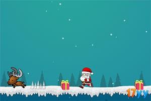 跳跃的圣诞老爷爷