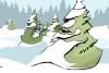 圣诞老人和精灵的雪球战