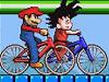 卡通小人自行车赛