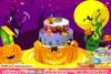 恐怖的万圣节蛋糕
