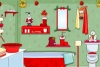 圣诞节布置洗手间