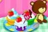 多彩的蛋糕烹饪