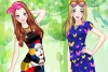 时尚流行的姐妹