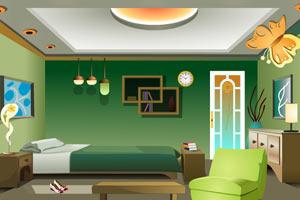 逃出绿色风格房间