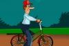 自行车送货员逃生
