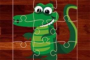 短吻鳄拼图