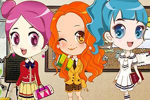 三个可爱的学生妹