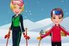凉爽的滑雪装备