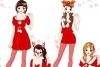 红色的圣诞节装扮